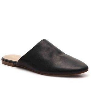 NWT Aldo Black Leather Mules